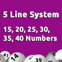 5 Line System - 15, 20, 25, 30, 35, 40 Numbers